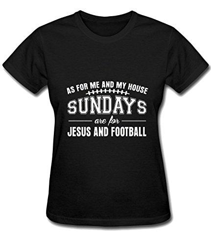 Iron Maiden Tool Women's Jesus and Football pretty T shirts black