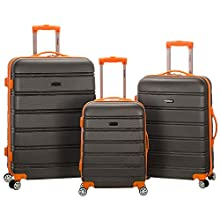 Rockland Melbourne Hardside Expandable Spinner Wheel Luggage, Charcoal