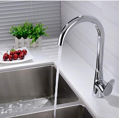 Mkkwp Spülbecken Wasserhahn Chrom Einzigen Handgriff 360 Grad-Umdrehung Küchenarmatur Kalt-Und Warmwasser Mischbatterie