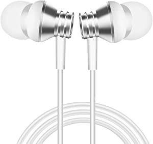 Aothing Earbuds Headphones Compatible with iPhone 11 Pro iPhone X/XS Max/XR iPhone 8/8 Plus iPhone 7/7 Plus, MFi Certified Wired Earphones with Microphone Controller White
