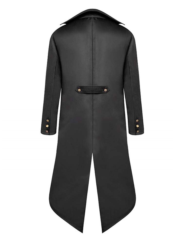 Men's Vintage Tailcoat Jacket Steampunk Gothic Victorian Halloween Costume Cosplay Frock Coat Uniform