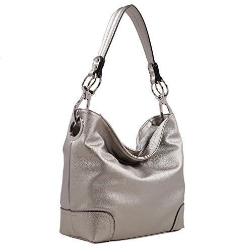 MKF Collection by Mia K Farrow Emily Soft Vegan Leather Hobo Handbag by MKF Collection by Mia K. Farrow