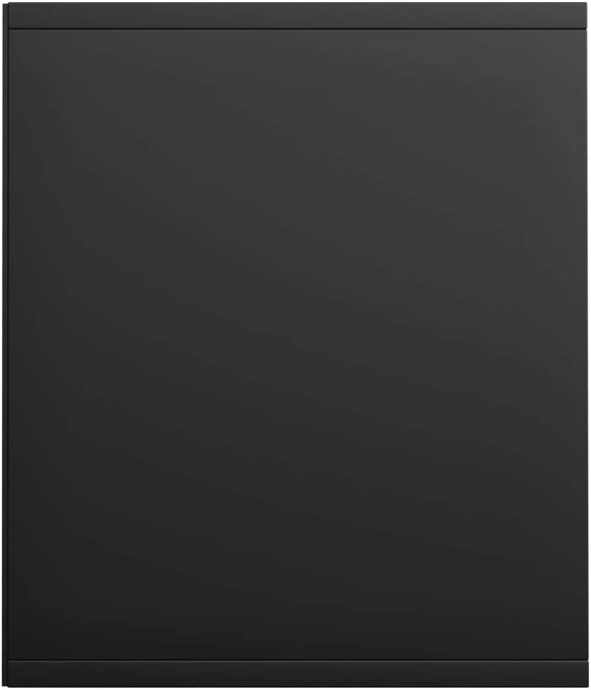 Tidyard Libreria Moderna in Truciolato Nero//Grigio con Vani,Mobile TV Moderno,Libreria Salvaspazio,Libreria Moderna,Libreria Verticale,Mobile TV Bianco,Mobiletto Soggiorno Moderno 36x30x143 cm