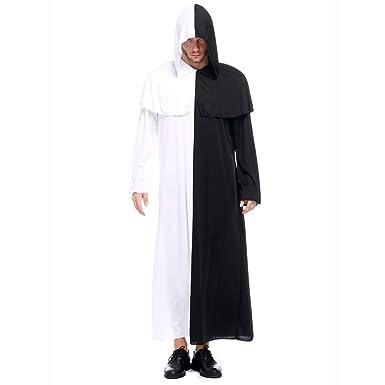 beautyjourney Disfraz de Bata con Capucha de Halloween para Hombre ...