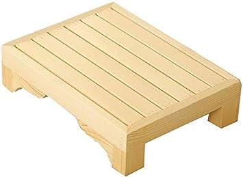 SED Escaleras de Tijera para el Hogar Multiusos, Taburetes de Interior Taburete para Baño para Niños Pequeños Entrenamiento para Ir Al Baño, Banco Pequeño de Madera para Taburete de Escalera Antidesl: Amazon.es: