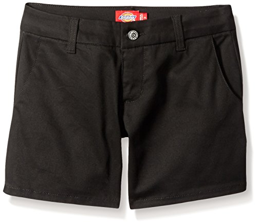 Dickies Girl Juniors Mid Rise 5 Inch Slim Short with 4 Pockets, Black, 9