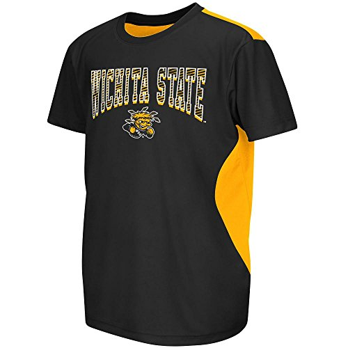 Youth NCAA Wichita State Shockers Performance Short Sleeve Tee Shirt (Team Color) - M
