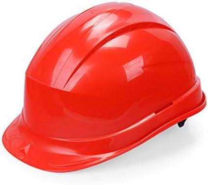 MEI XU 建設安全ヘルメット - 建設現場建設エンジニアリングリーダーシップ電気工ヘルメット労働保護ワークヘルメット(4色オプション) // (色 : 赤)