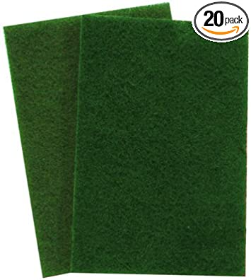 "Prime Source 13/"" Green Scrubber 5 Pads//case"