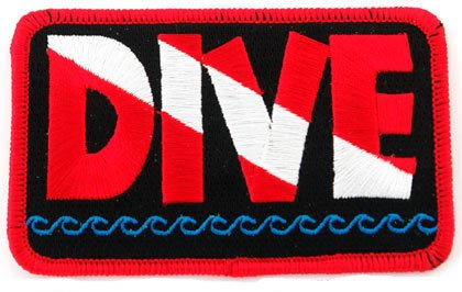 Cypress Collectibles Embroidered Patches Dive Patch Embroidered Iron On Scuba Diving Flag Emblem Souvenir