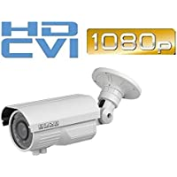 2MP 1080p HD-CVI Indoor/Outdoor Bullet Security Camera - 150 Feet of IR - Varifocal 2.8-12mm Lens, 42IR & DC12V- High Definition Security Recording over Coax Cable - MUST BE USED WITH A CVI DVR!