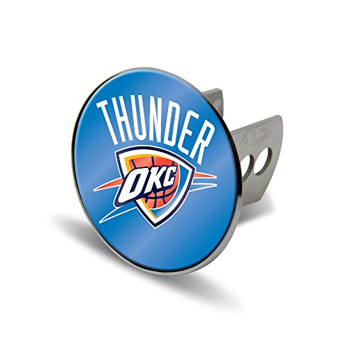 Rico NBA Oklahoma City Thunder Laser Cut Metal Hitch Cover, Large, Silver by Rico