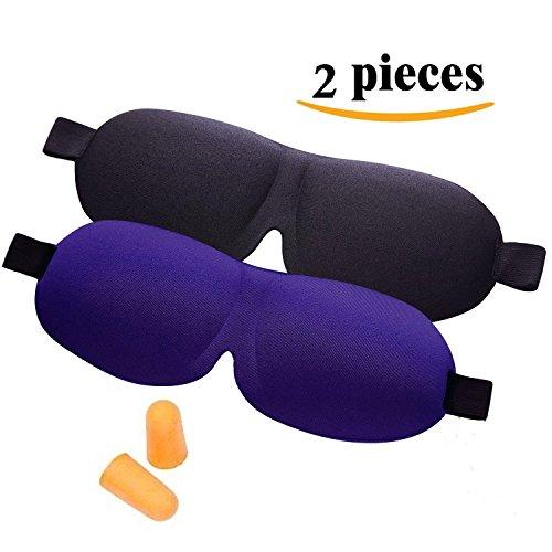 JH-Wellness® 3D Sleep Mask with Ear Plugs (2