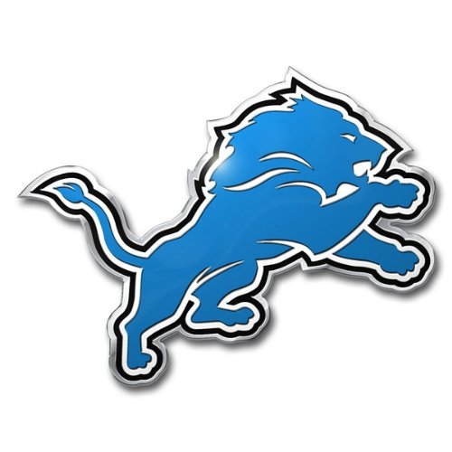 Price comparison product image NFL Detroit Lions Die Cut Color Automobile Emblem