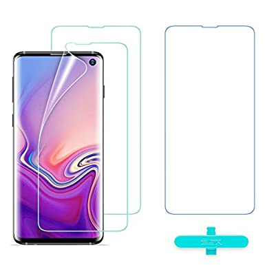 ESR Screen Protector [TPU Film] Compatible with Samsung Galaxy S10, 2-Pack  [Plus 1 Extra for Practice], Full-Coverage Liquid Skin Easy Installation