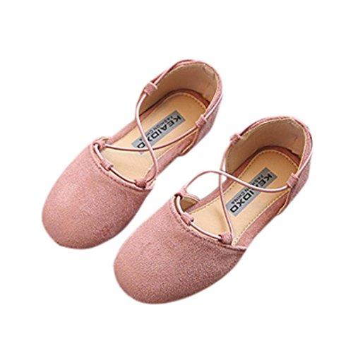 Hunpta Kinder Mode Kinder von Baby Solid Casual Schuhe Mädchen flache Prinzessin Schuhe Rosa