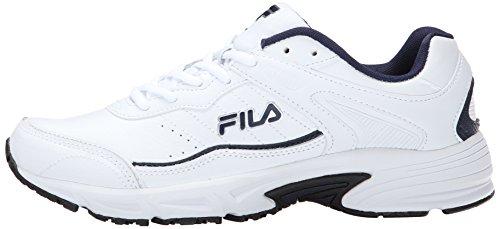 Image of the Fila Men's Memory Sportland Running Shoe, White Navy/Metallic Silver, 10 M US