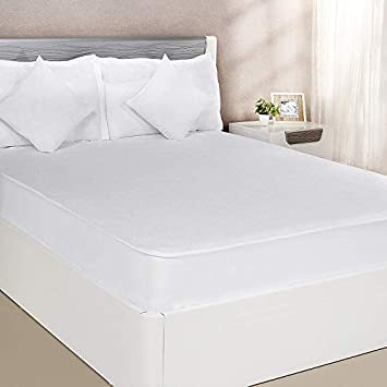 Veirdo Home Water Proof Terry Cotton Mattress Protector - White (36 x 72-Standard Size)