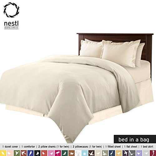 Disposable Bed Sheets Canada: Bed-In-A-Bag 9 Piece Complete Bed Sheet Set Ð Queen Cream
