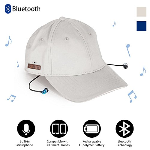 ACOTop Wireless Bluetooth Baseball Hat Cap For Men Women with Stereo Headphones Headsets Earphones Speakers Hands-free Phone Call for Fitness Outdoor Sports like Walking, Jogging, Fishing