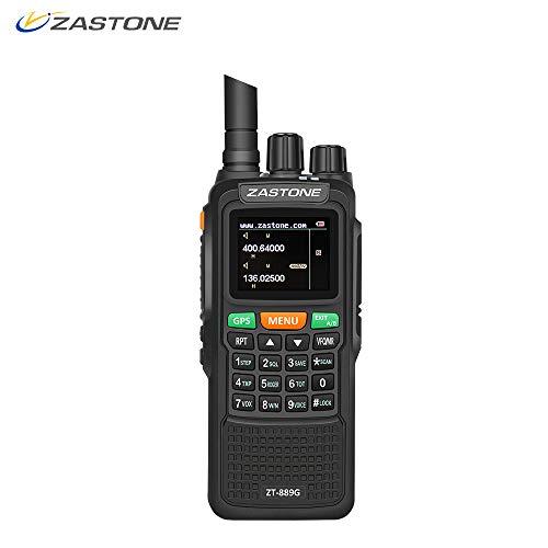 Uhf Gps - Zastone 889G Walkie Talkies Dual Band Two Way Radio Long Range 10W 999CH 3000mAh UHF/VHF GPS Ham Radio