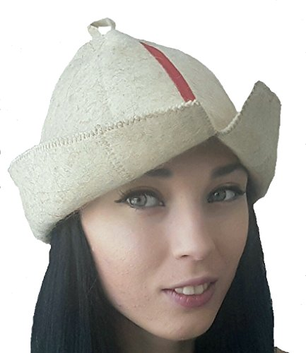 Hat for Men , for Women , Wool Felt Head Protection Spa Sauna Russian Banya Stylish and Cool , Fans of Baths and Saunas , Accessory for the Steam room Mongolian Hat