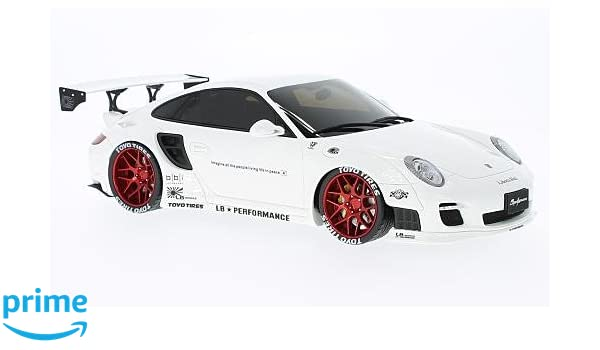 Gt Spirit zm090 Porsche 997 Turbo - LB Performance - Echelle 1/18, Color Blanco/Rojo: GT Spirit: Amazon.es: Juguetes y juegos
