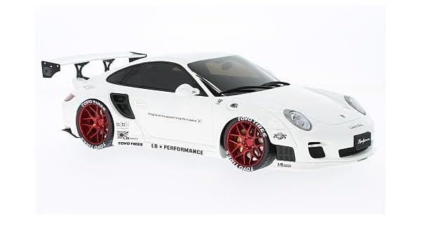 Gt Spirit zm090 Porsche 997 Turbo - LB Performance - Echelle 1/18, color blanco/rojo: GT Spirit: Amazon.es: Juguetes y juegos