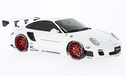 GT Spirit zm090 Porsche 997 Turbo – LB Performance – Echelle 1 18, Bianco Rosso