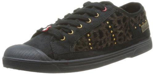 Cloutes Des Le Donna leopard Sneaker Noir Nero 02 Vernis Temps Cerises schwarz Basic 5UrUqw7T