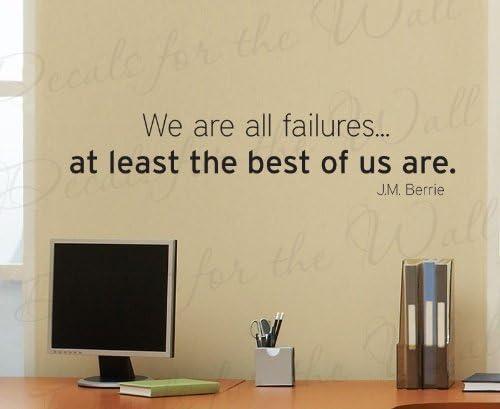 El éxito y el fracaso Pared Adhesivo Decoración de oficina de citas pared calcomanía inspirador