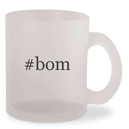 #bom - Hashtag Frosted 10oz Glass Coffee Cup (Bali Silver Hat)