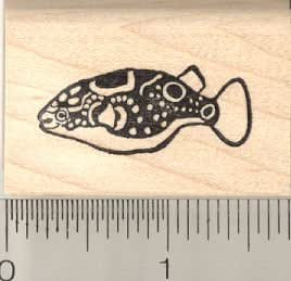 Figure 8 puffer fish rubber stamp arts for Rubber stamps arts and crafts