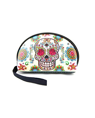 Skull Makeup Bags Mexican Makeup Cosmetic Bag Skull Accessories Dia De Los Muertos ()