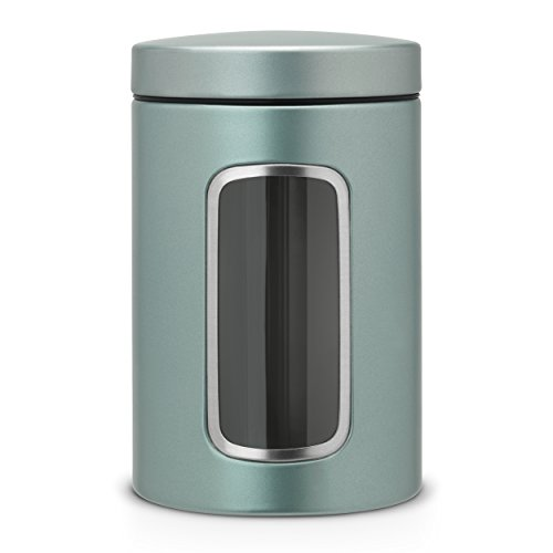 Brilliant Steel 247286 1.4 Litre Brabantia Round Window Canister Pack of 3