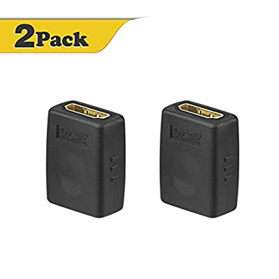 VCE (2 PACK) HDMI Female to Female Adapter Gold Plated High Speed HDMI Female Coupler 3D&4K Resolution by VCE