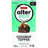 ALTER ECO Deep Dark Salted Coconut Toffee Organic Chocolate Bar 80 g,  80 g