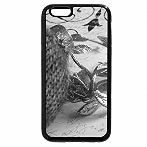 iPhone 6S Case, iPhone 6 Case (Black & White) - Cozy wrapped in wool