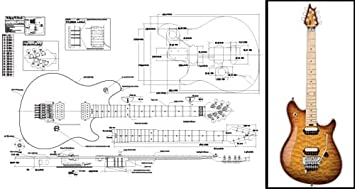 amazon com plan of a peavey wolfgang electric guitar full scale Guitar Coil Tap Wiring Diagrams