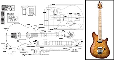 amazon com plan of a peavey wolfgang electric guitar full scale rh amazon com Humbucker Guitar Wiring Diagrams Humbucker Guitar Wiring Diagrams
