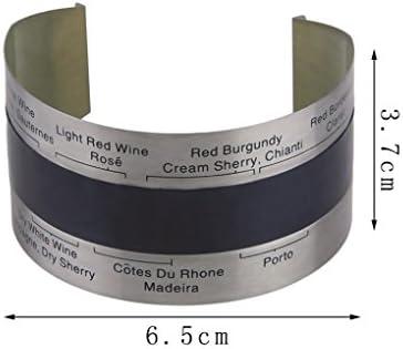 teng hong hui Vino de Acero Inoxidable LCD eléctrico Vino Tinto termómetro Digital termómetro medidor de 4-24 Grados centígrados de Temperatura Rango