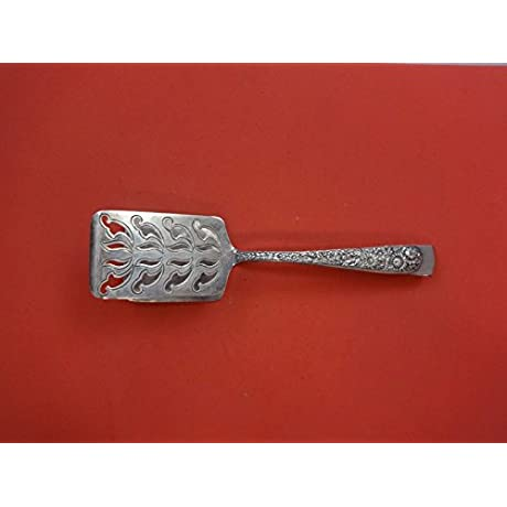 Repousse By Kirk Sterling Silver Asparagus Serving Tong Brite Cut 8 1 2