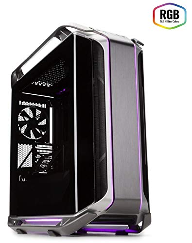 Cooler Master Cosmos C700M with ARGB Lighting, Aluminum Panels, a Riser Cable, and Curved Tempered Glass, C700M Full Tower (Best Ultra Tower Case)