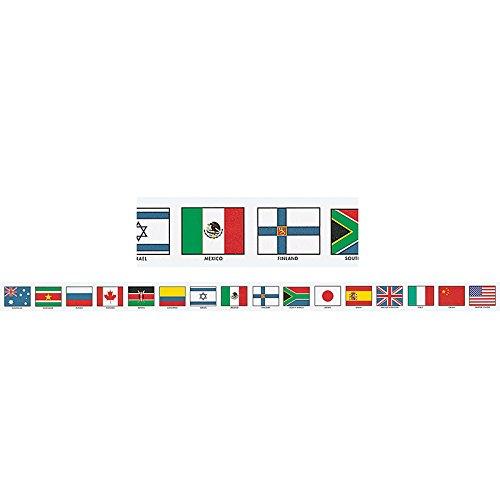 McDonald Publishing MC-Y1512 Flags of Nations Brainy Border, Grade: 4 to 9+, 3.23