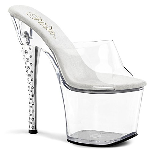 Black Clear Sandal Clear B Women's 701H CB Diamond Pleaser Clear wxT8qU0U