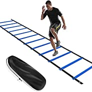 Training Agility Ladder, Speed Agility Training Footwork Equipment 12 Rung with Carrying Bag, Agility Ladde fo