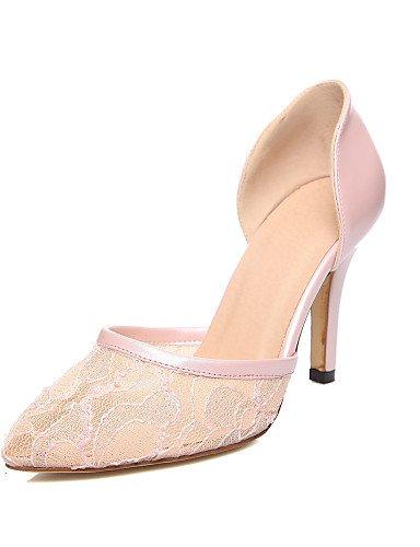 GGX/ Damenschuhe-High Heels-Büro / Lässig-PU / Tüll-Stöckelabsatz-Absätze / Spitzschuh-Schwarz / Rosa / Mandelfarben pink-us6 / eu36 / uk4 / cn36