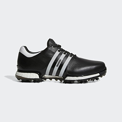 Adidas 2017 Tour 360 Boost 2.0 Mens Spiked Leather Waterproof Golf Shoes - Wide Fitting B075XKJC19 11 UK/ EUR 46 / US 11.5|Black/White
