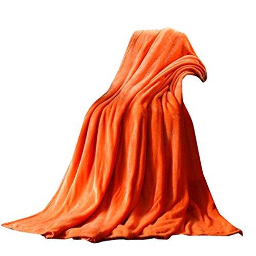 MOSE Cashmere Kids Rabbit Knitting Solid Color Blanket Bedding 5070CM (Orange)