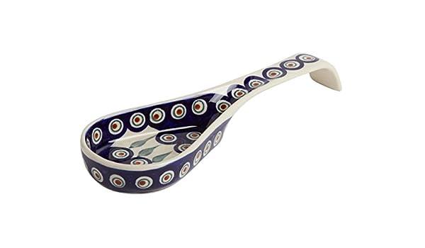 Polaco de plumas de pavo real con diseño floral azul, 26 cm ...